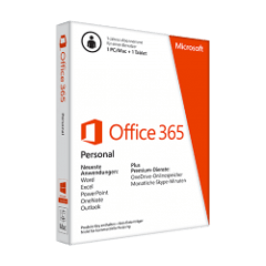 MS Office 365 Personal für 1 PC + 1 Tablet Abo
